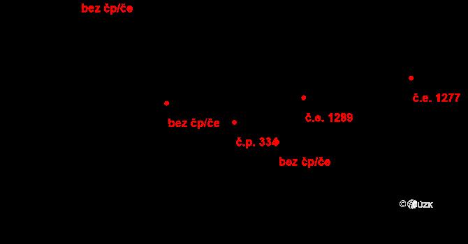 Polubný 334, Kořenov na parcele st. 1168/1 v KÚ Polubný, Katastrální mapa