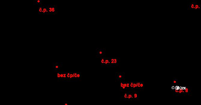 Smilovice 23 na parcele st. 72 v KÚ Smilovice, Katastrální mapa