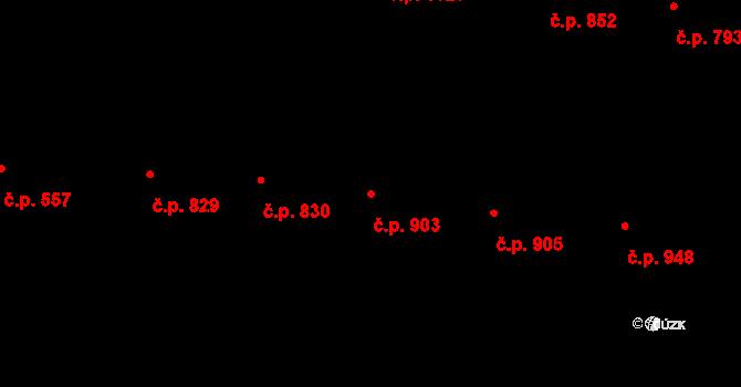 Žižkov 903, Praha na parcele st. 220 v KÚ Žižkov, Katastrální mapa