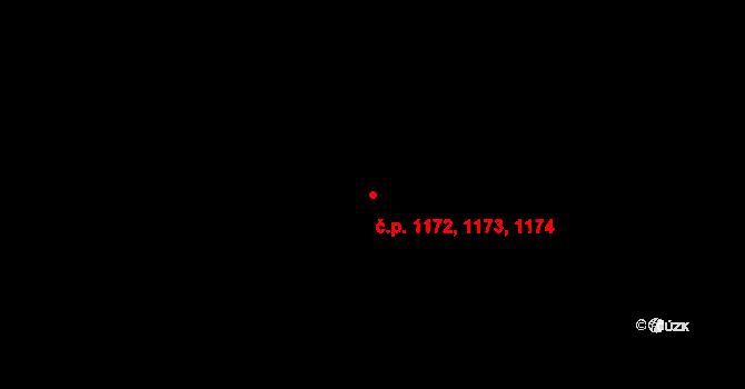 Kateřinky 1172,1173,1174, Opava na parcele st. 1517 v KÚ Kateřinky u Opavy, Katastrální mapa