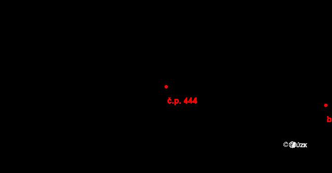 Lhotka 444, Ostrava na parcele st. 414/2 v KÚ Lhotka u Ostravy, Katastrální mapa
