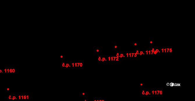 Svítkov 1172, Pardubice na parcele st. 2006 v KÚ Svítkov, Katastrální mapa