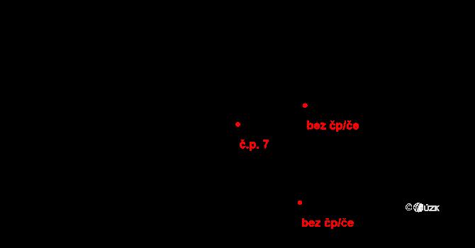 Jetišov 7, Nihošovice na parcele st. 11 v KÚ Jetišov, Katastrální mapa