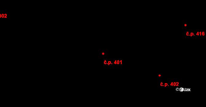 Mladé Buky 401 na parcele st. 923 v KÚ Mladé Buky, Katastrální mapa