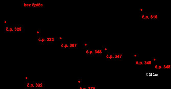 Litovel 348 na parcele st. 762 v KÚ Litovel, Katastrální mapa