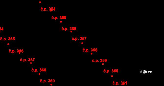 Staré Hory 358, Jihlava na parcele st. 579 v KÚ Staré Hory, Katastrální mapa