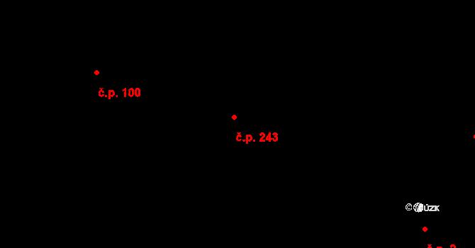 Horní Těrlicko 243, Těrlicko na parcele st. 664 v KÚ Horní Těrlicko, Katastrální mapa