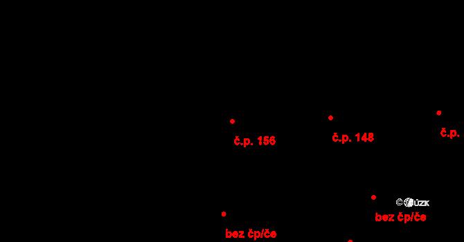 Vlčková 156 na parcele st. 343 v KÚ Vlčková, Katastrální mapa