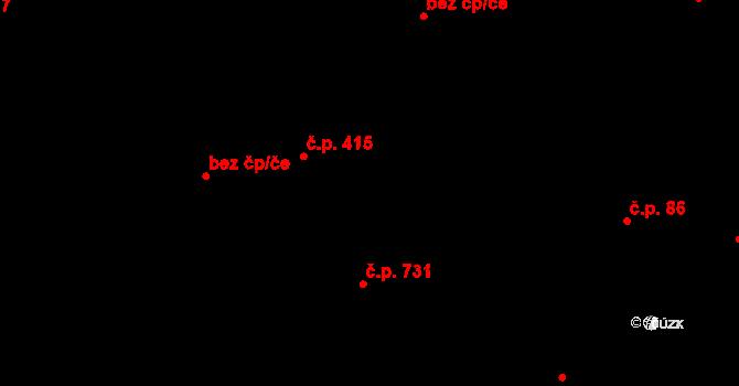 Polešovice 89 na parcele st. 72/2 v KÚ Polešovice, Katastrální mapa
