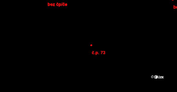 Dolní Počernice 73, Praha na parcele st. 212/3 v KÚ Dolní Počernice, Katastrální mapa