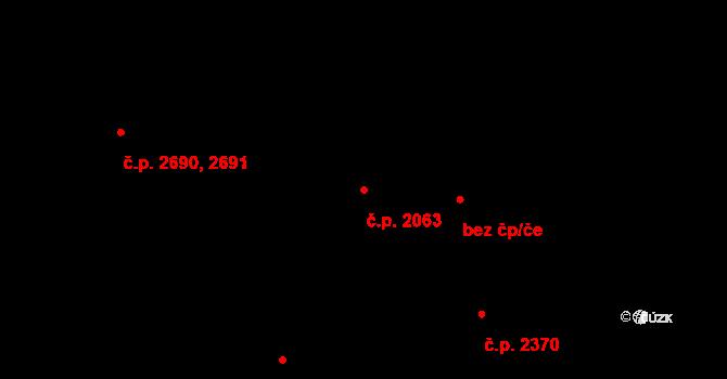 Smíchov 2063, Praha na parcele st. 2528 v KÚ Smíchov, Katastrální mapa