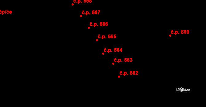 Studánka 564, Pardubice na parcele st. 680 v KÚ Studánka, Katastrální mapa