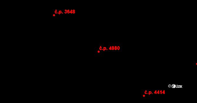 Zlín 4980 na parcele st. 7767 v KÚ Zlín, Katastrální mapa