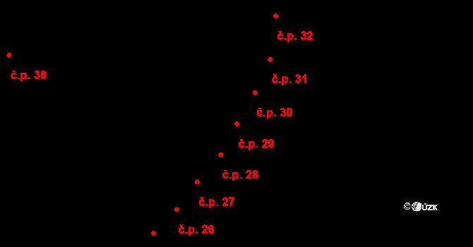 Rovná 29 na parcele st. 168 v KÚ Rovná u Sokolova, Katastrální mapa
