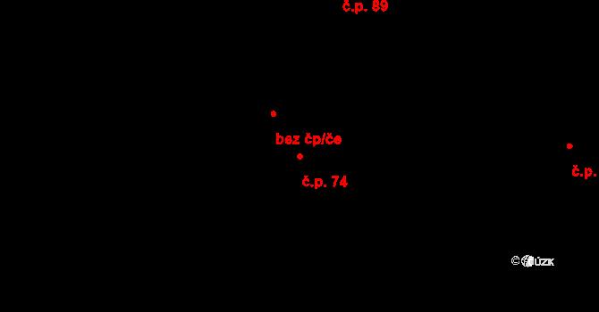 Stará Lysá 74 na parcele st. 156/1 v KÚ Stará Lysá, Katastrální mapa