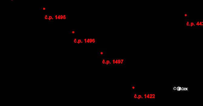 Holešovice 1497, Praha na parcele st. 612/7 v KÚ Holešovice, Katastrální mapa