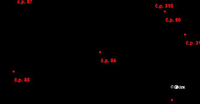 Nivnice 84 na parcele st. 1115/1 v KÚ Nivnice, Katastrální mapa
