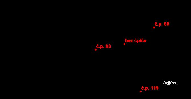 Stehelčeves 93 na parcele st. 235 v KÚ Stehelčeves, Katastrální mapa