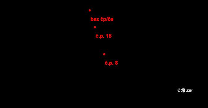 Jetišov 8, Nihošovice na parcele st. 10 v KÚ Jetišov, Katastrální mapa
