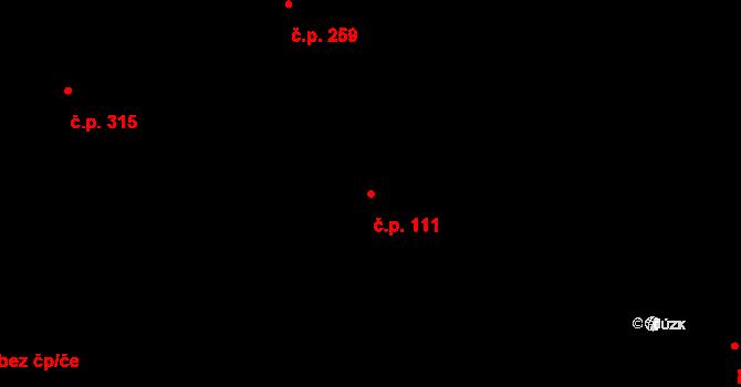 Vamberk 111 na parcele st. 87/1 v KÚ Vamberk, Katastrální mapa