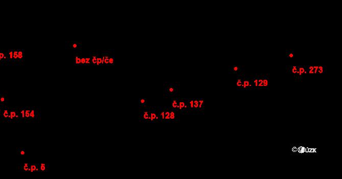 Bratronice 137 na parcele st. 97/4 v KÚ Bratronice u Kladna, Katastrální mapa