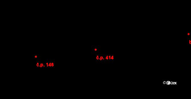 Bílá Třemešná 414 na parcele st. 642 v KÚ Bílá Třemešná, Katastrální mapa