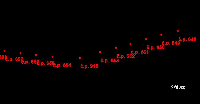 Kaplice 653 na parcele st. 2020/25 v KÚ Kaplice, Katastrální mapa