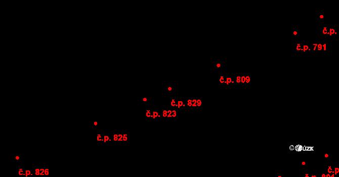 Hostavice 829, Praha, Katastrální mapa