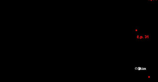 Malé Březno 32 na parcele st. 89/1 v KÚ Malé Březno, Katastrální mapa