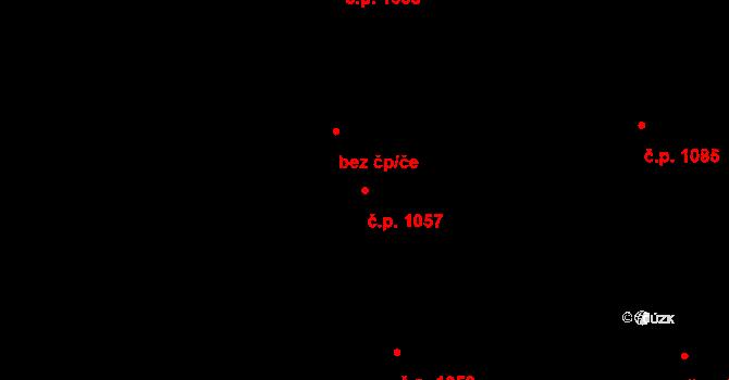 Nivnice 1057 na parcele st. 1981/86 v KÚ Nivnice, Katastrální mapa
