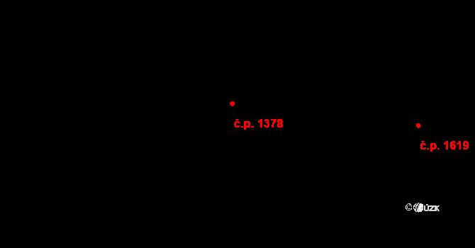 Hostivař 1378, Praha na parcele st. 2634/24 v KÚ Hostivař, Katastrální mapa