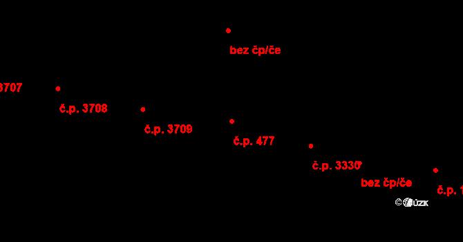 Zlín 477 na parcele st. 5451 v KÚ Zlín, Katastrální mapa