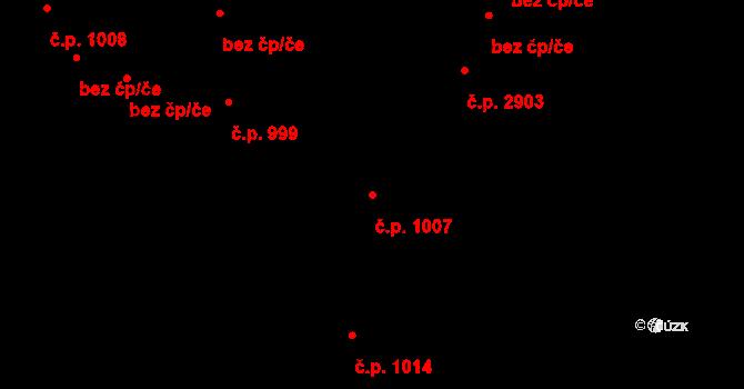 Šumperk 1007 na parcele st. 1255 v KÚ Šumperk, Katastrální mapa