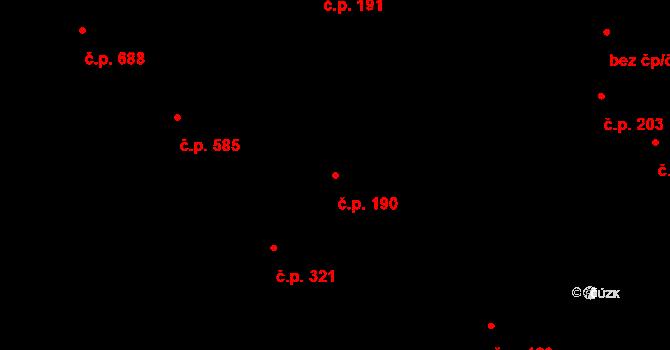 Petřkovice 190, Ostrava na parcele st. 626 v KÚ Petřkovice u Ostravy, Katastrální mapa