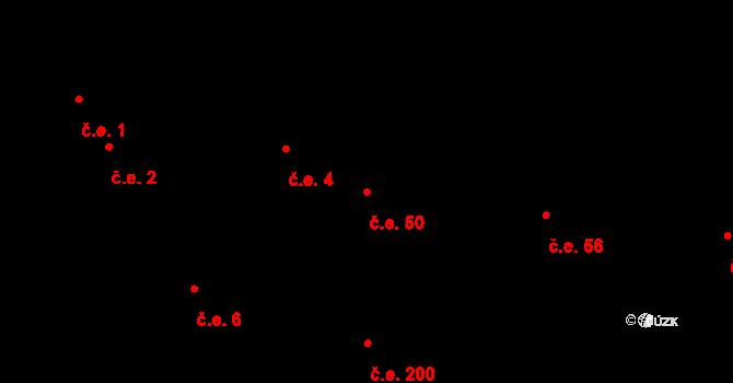 Újezd nade Mží 50 na parcele st. 134 v KÚ Újezd nade Mží, Katastrální mapa