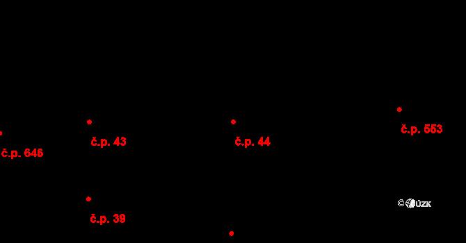 Brno-město 44, Brno na parcele st. 110 v KÚ Město Brno, Katastrální mapa