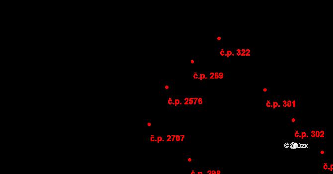Východní Předměstí 2576, Plzeň na parcele st. 817/1 v KÚ Plzeň, Katastrální mapa