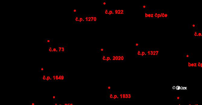 Modřany 2020, Praha na parcele st. 1407/2 v KÚ Modřany, Katastrální mapa