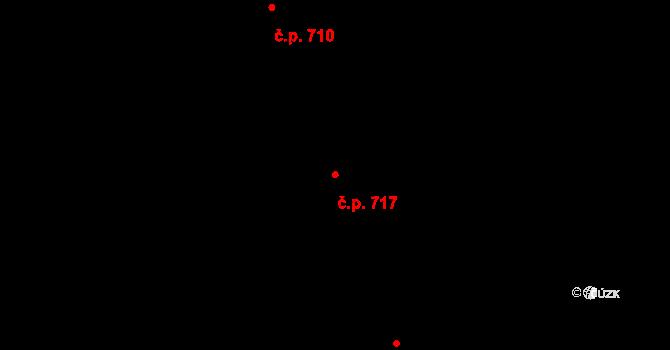 Prštné 717, Zlín na parcele st. 1157 v KÚ Prštné, Katastrální mapa
