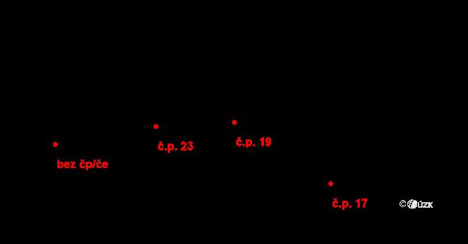 Držkrajov 19, Přeštěnice na parcele st. 19 v KÚ Držkrajov, Katastrální mapa