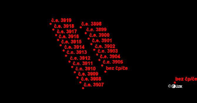 Jihlava 3903 na parcele st. 5332/24 v KÚ Jihlava, Katastrální mapa