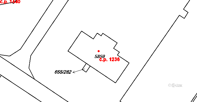 Mladá Boleslav II 1236, Mladá Boleslav na parcele st. 5859 v KÚ Mladá Boleslav, Katastrální mapa