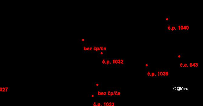 Český Těšín 1032 na parcele st. 2385 v KÚ Český Těšín, Katastrální mapa