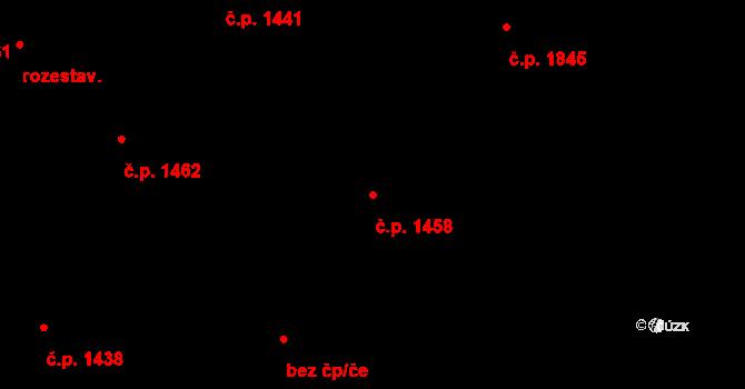 Úvaly 1458 na parcele st. 3268/34 v KÚ Úvaly u Prahy, Katastrální mapa