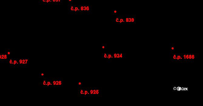 Libeň 924, Praha na parcele st. 2358 v KÚ Libeň, Katastrální mapa