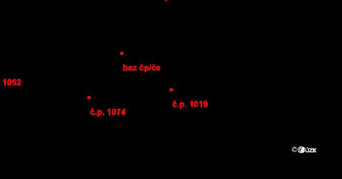 Kbely 1019, Praha na parcele st. 1946/120 v KÚ Kbely, Katastrální mapa