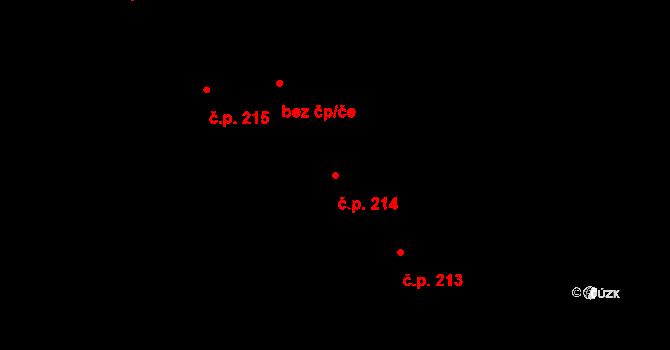 Plavsko 214 na parcele st. 339 v KÚ Plavsko, Katastrální mapa