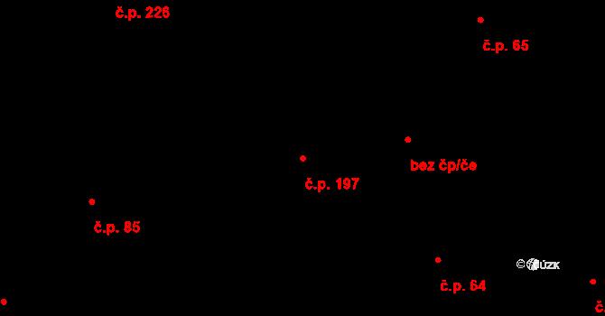 Souš 197, Most na parcele st. 171/2 v KÚ Most II, Katastrální mapa