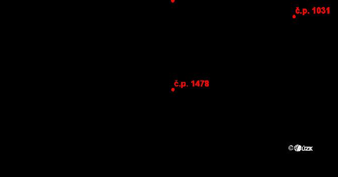 Radvanice 1478, Ostrava na parcele st. 3175/6 v KÚ Radvanice, Katastrální mapa