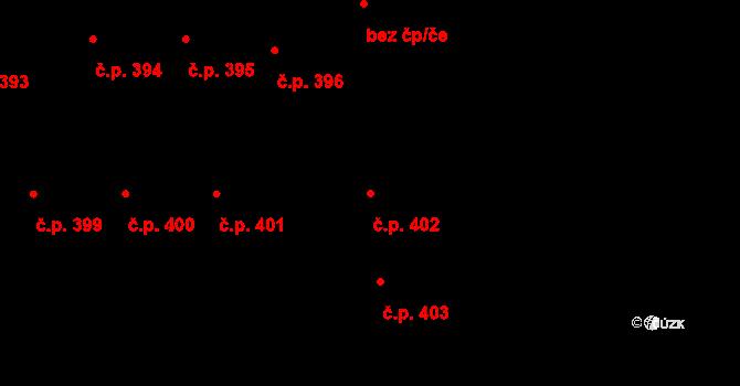 České Budějovice 3 402, České Budějovice na parcele st. 1031 v KÚ České Budějovice 3, Katastrální mapa